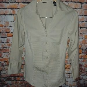 Tan blouse with stretch!